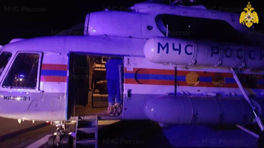 Ночью в Тверь на вертолёте МЧС доставили ребёнка в тяжёлом состоянии