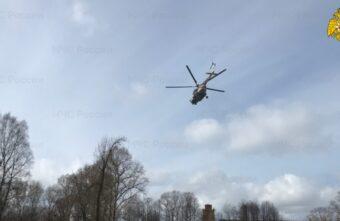Пациента в тяжёлом состоянии доставили в Тверь на вертолёте