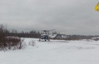 Сразу нескольких жителей Тверской области срочно эвакуировали вертолётом санавиации