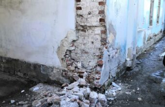 На набережной Степана Разина в Твери восстановят разрушившуюся старинную арку