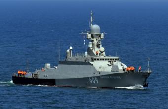 Корабль, названный в честь города Тверской области, отбил атаку истребителей
