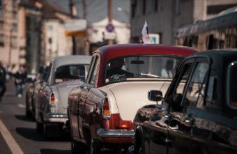 Парад ретроавтомобилей прошёл в честь Юрия Гагарина на улицах Твери