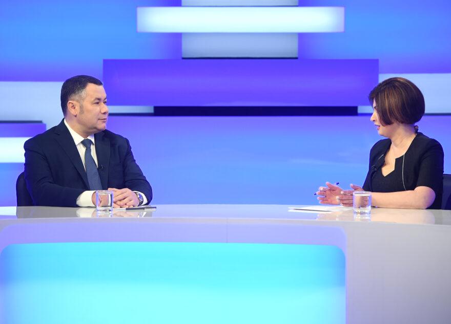 Детсады, ТВЗ, половодье: губернатор ответил на вопросы жителей Тверской области