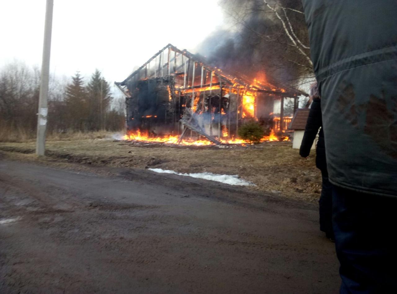 Дом сгорел дотла в СНТ под Тверью
