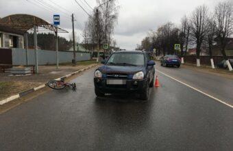 Опубликовано видео, как женщина сбила мальчика-велосипедиста в Тверской области