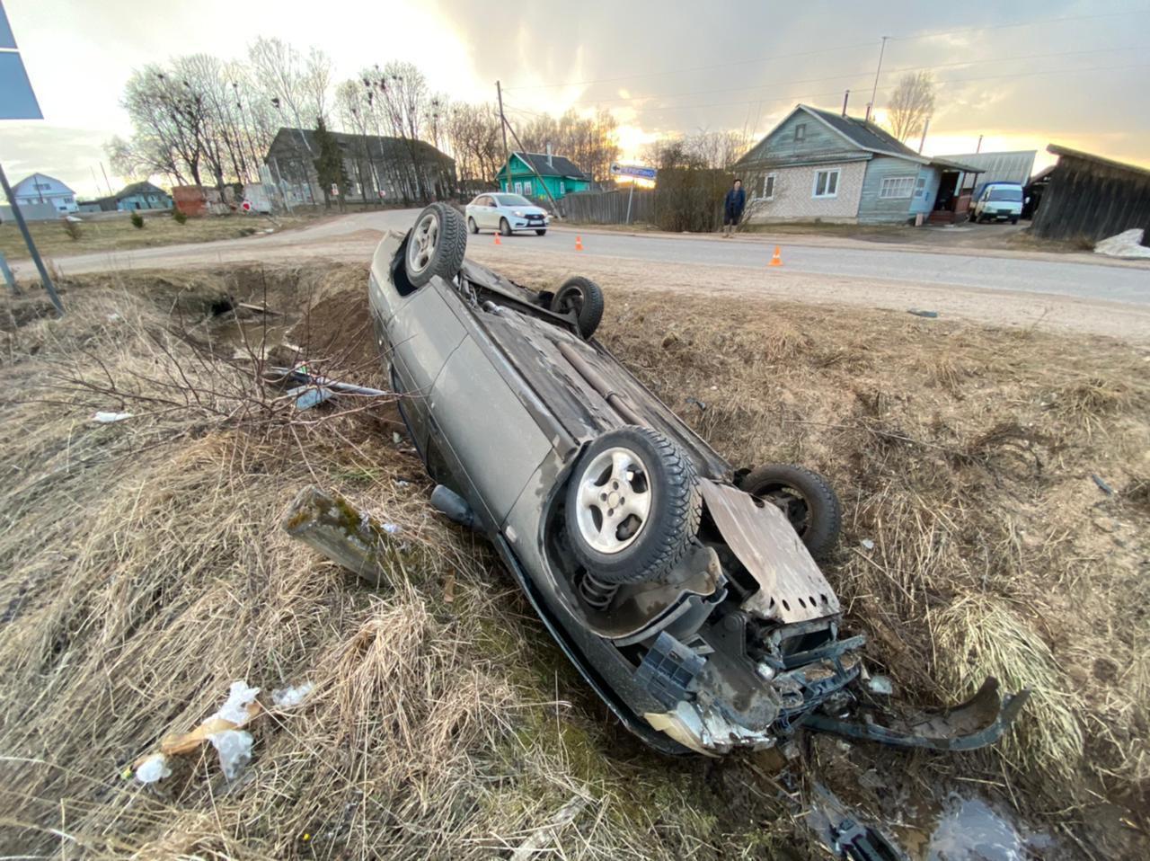 Появились фотографии с места ДТП с пьяным водителем в Тверской области