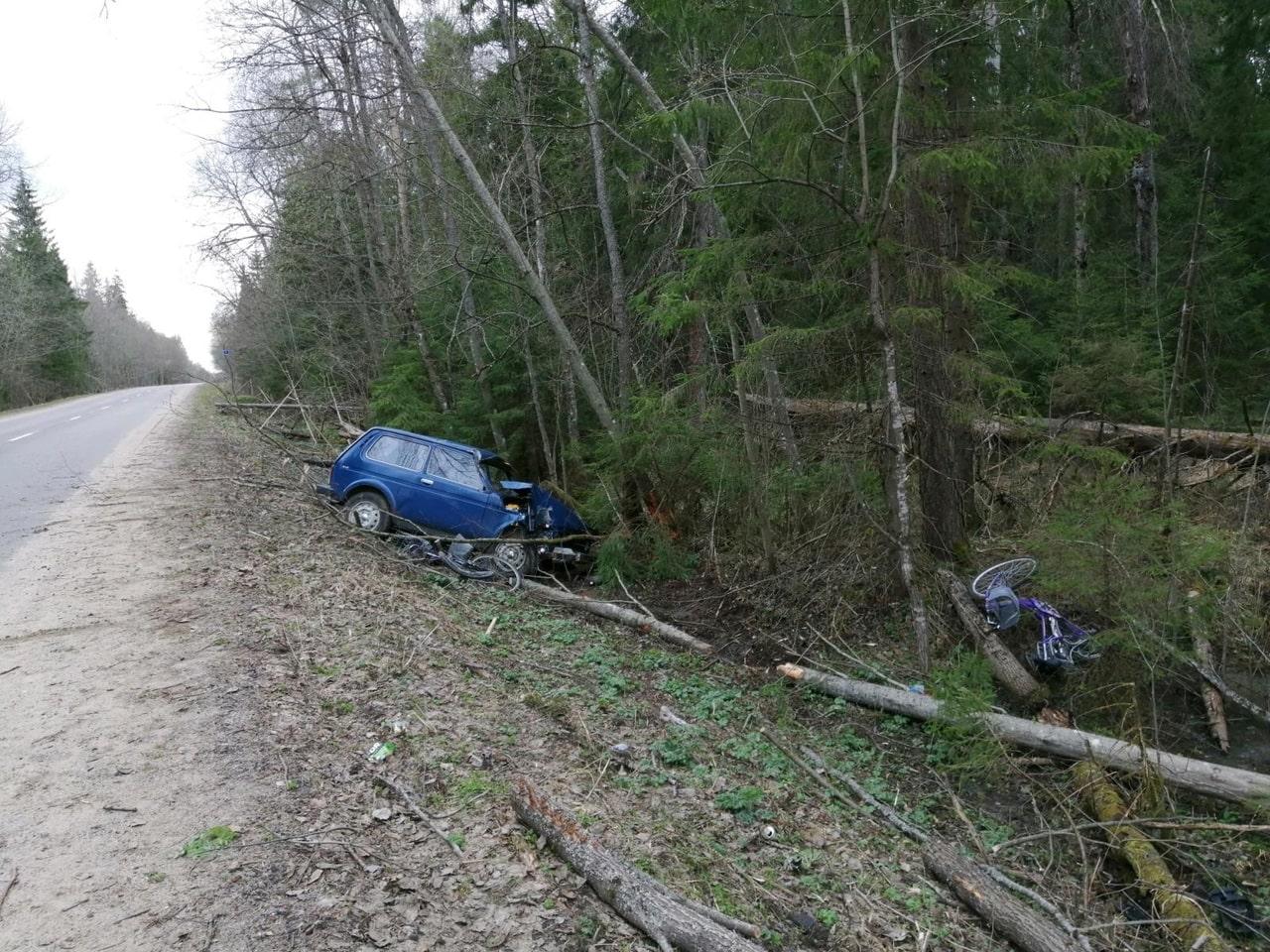 Появилась фотография с места гибели велосипедистки в Тверской области