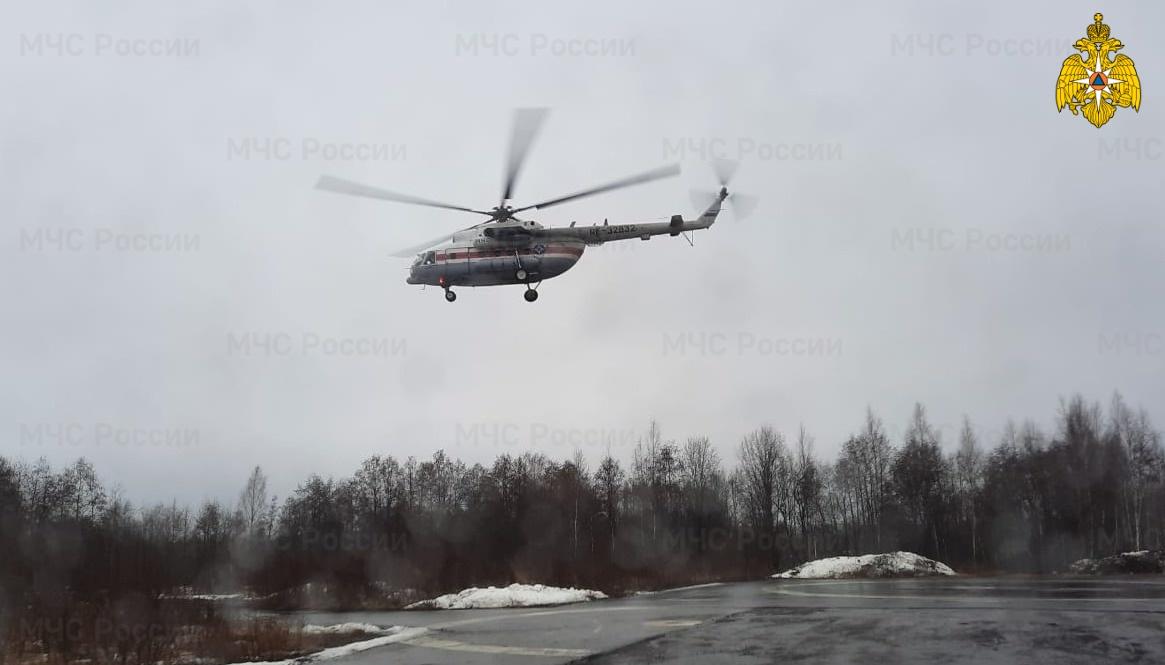 Жителя Тверской области транспортировали в ОКБ на вертолёте
