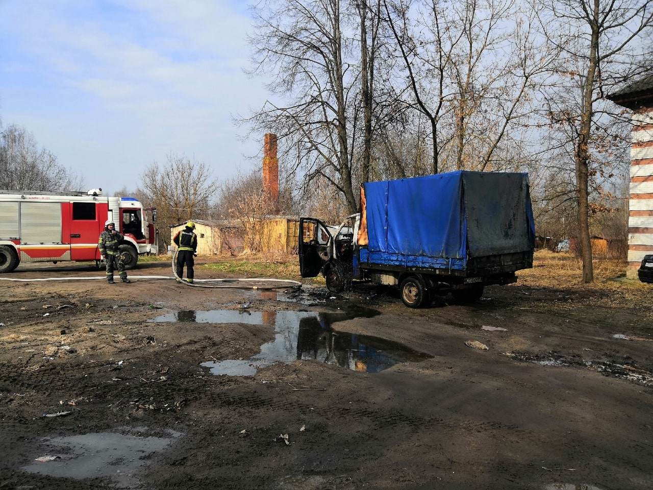 ГАЗель сгорела в Пролетарском районе Твери