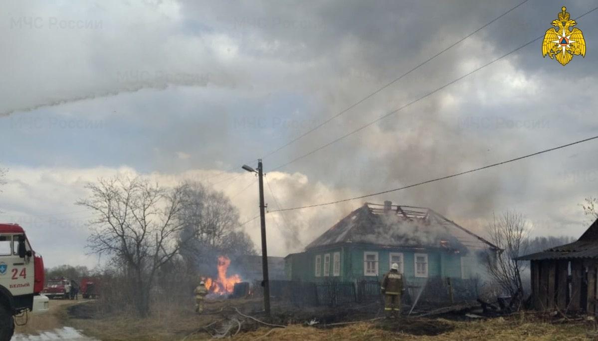 Пожарные отстояли от огня целую деревню в Тверской области