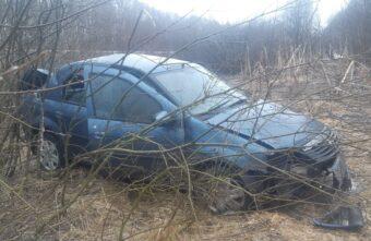 В Тверской области пострадала пассажирка улетевшей в кювет иномарки