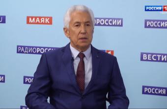 Владимир Васильев выступил в эфире тверского телеканала
