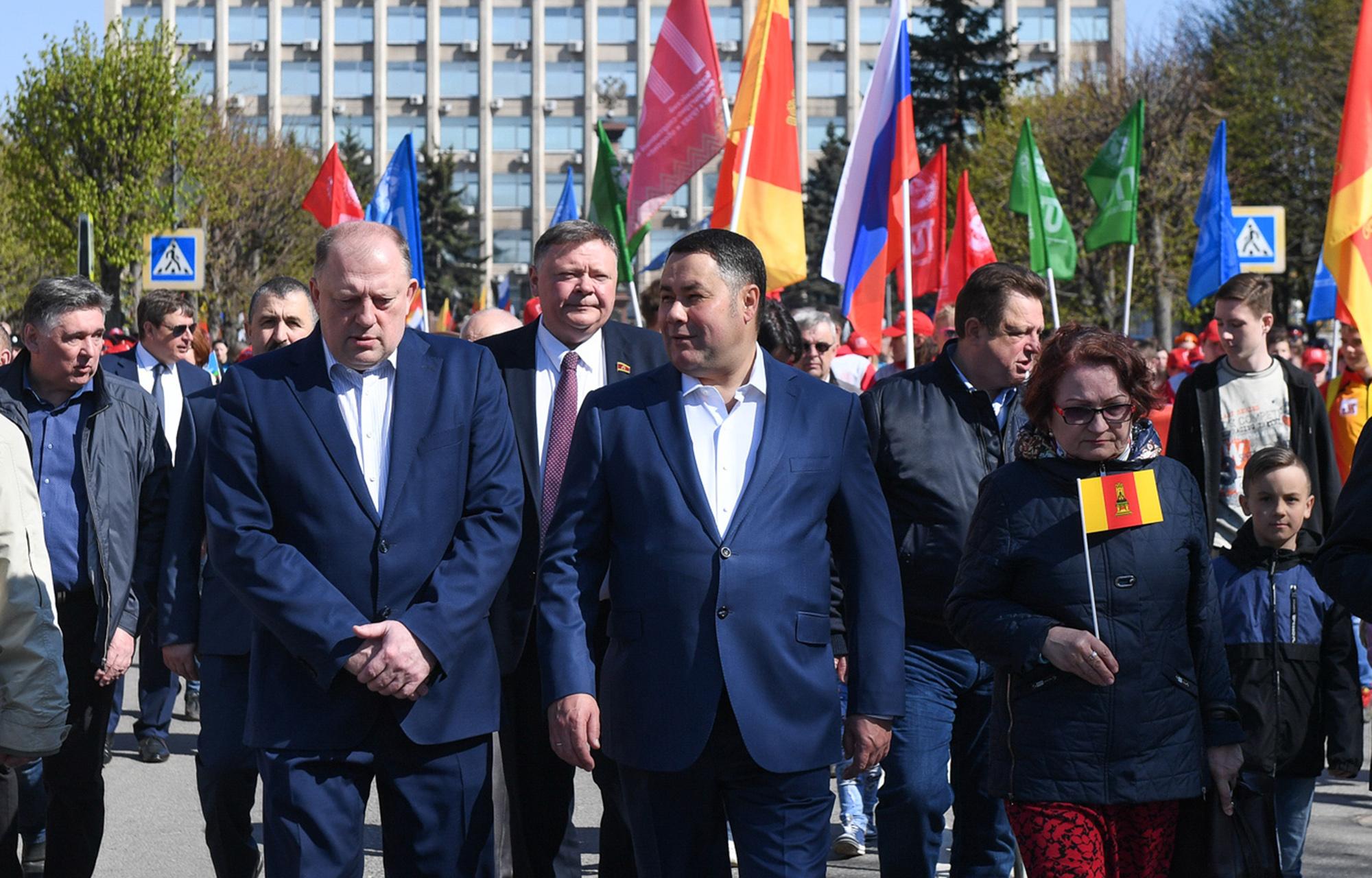 Губернатор Игорь Руденя поздравил жителей Тверской области с праздником весны и труда
