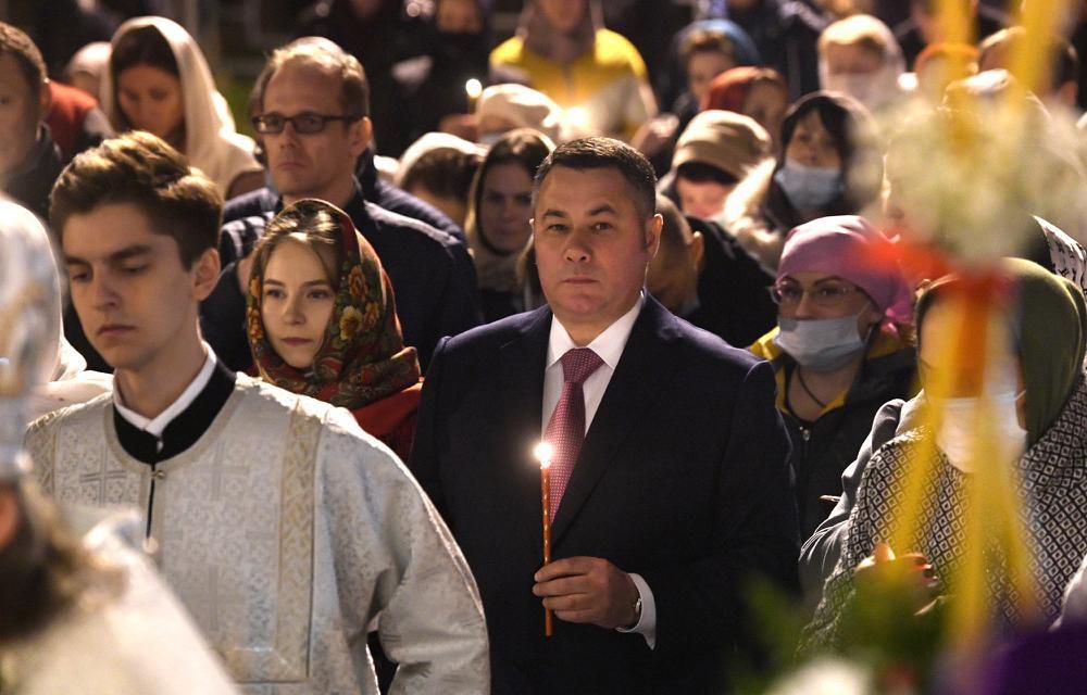 Губернатор поздравил жителей Тверской области с праздником Светлой Пасхи