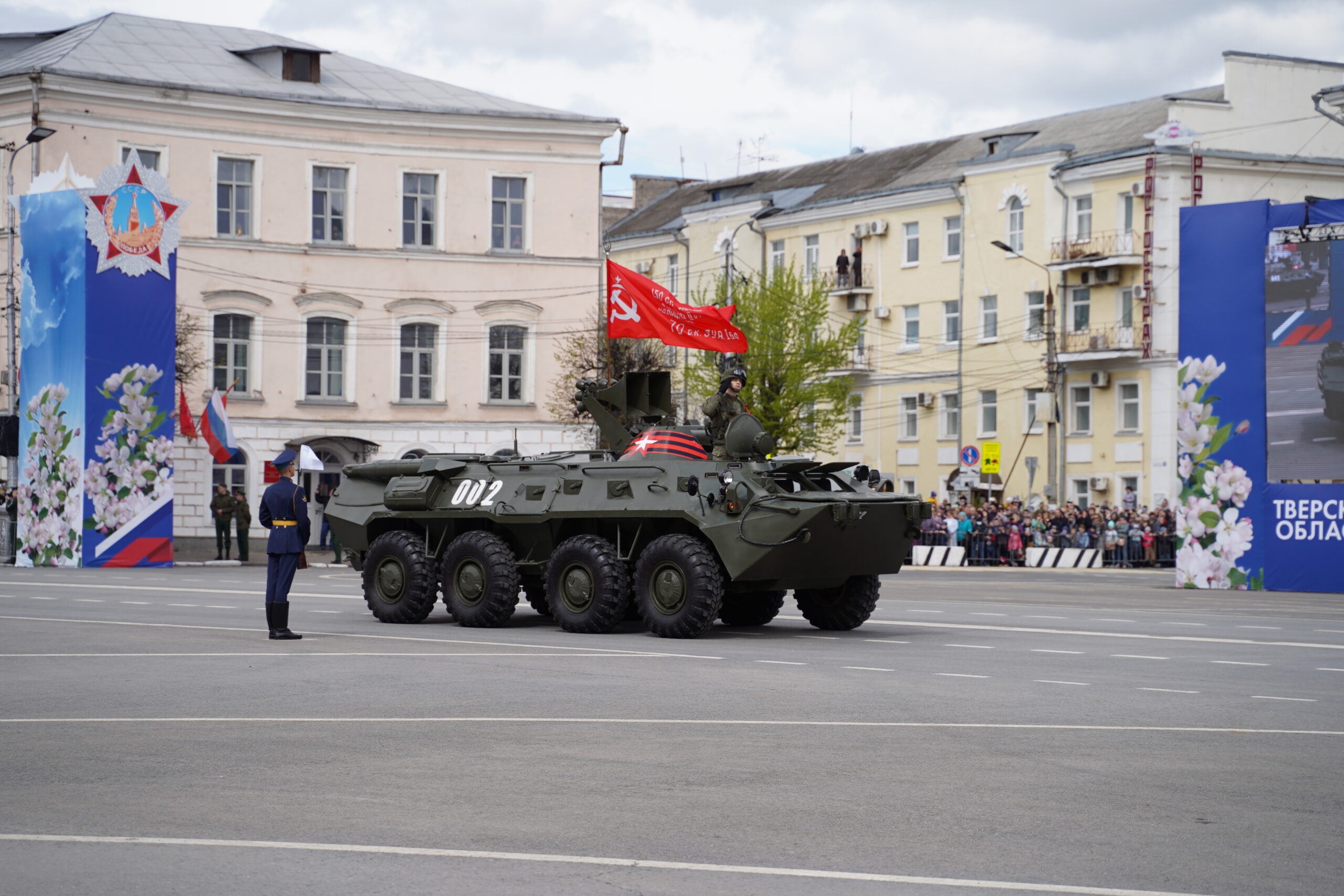 Парад Победы прошёл в центре Твери: фоторепортаж