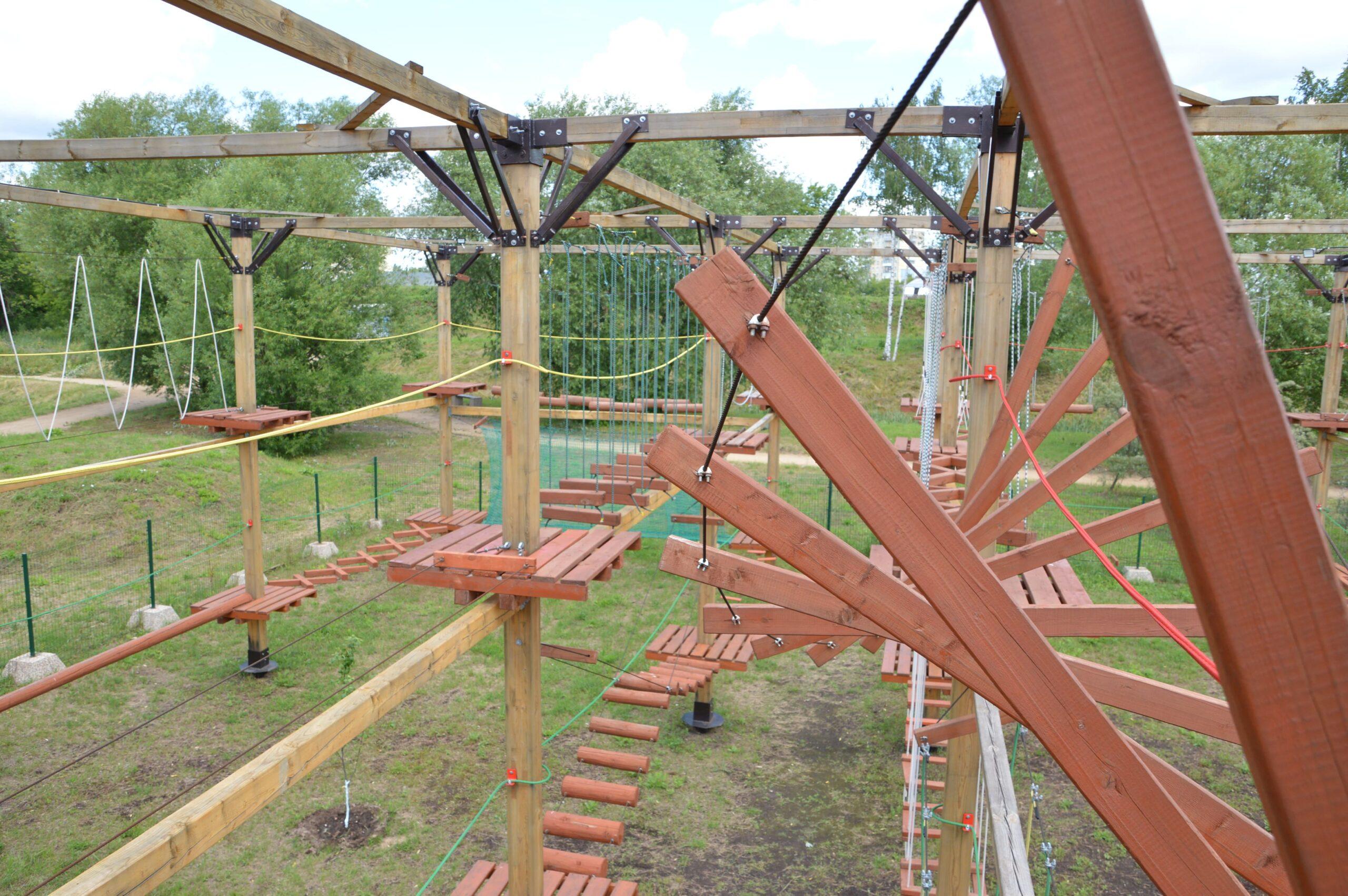 В Твери с 1 июня заработает верёвочный парк у Тьмаки