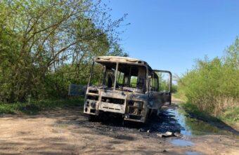 В Тверской области дотла сгорел пассажирский автобус