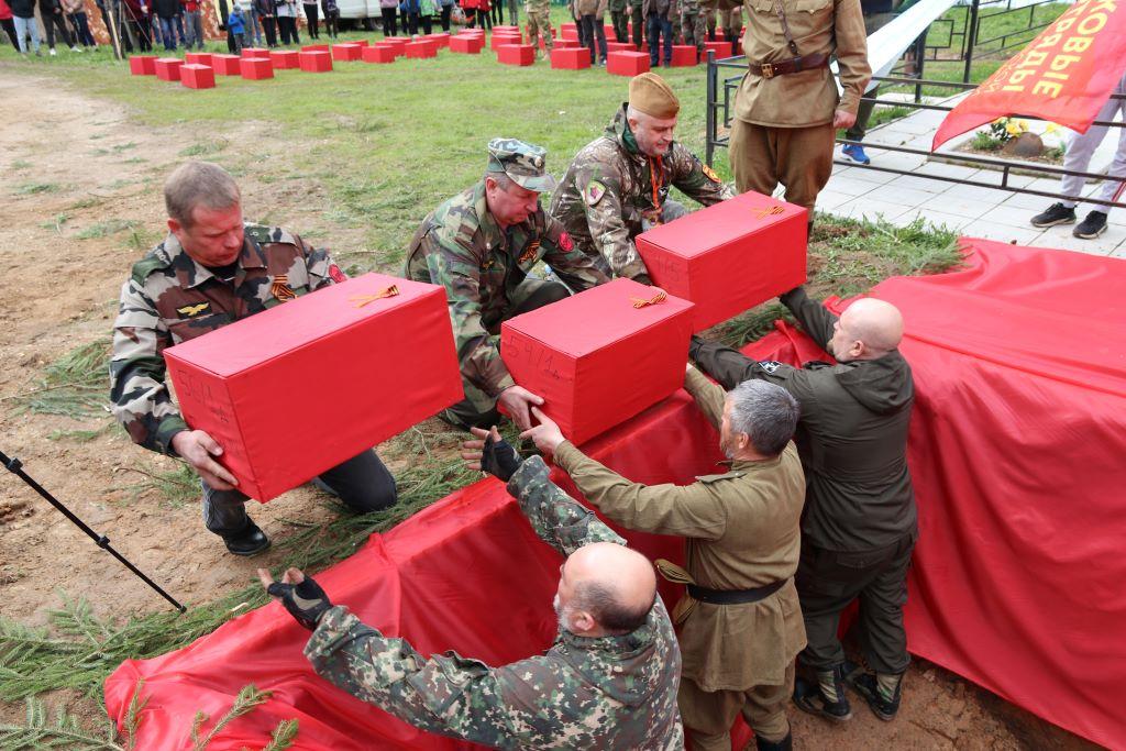 162 советских воинов подняли поисковики в Тверской области