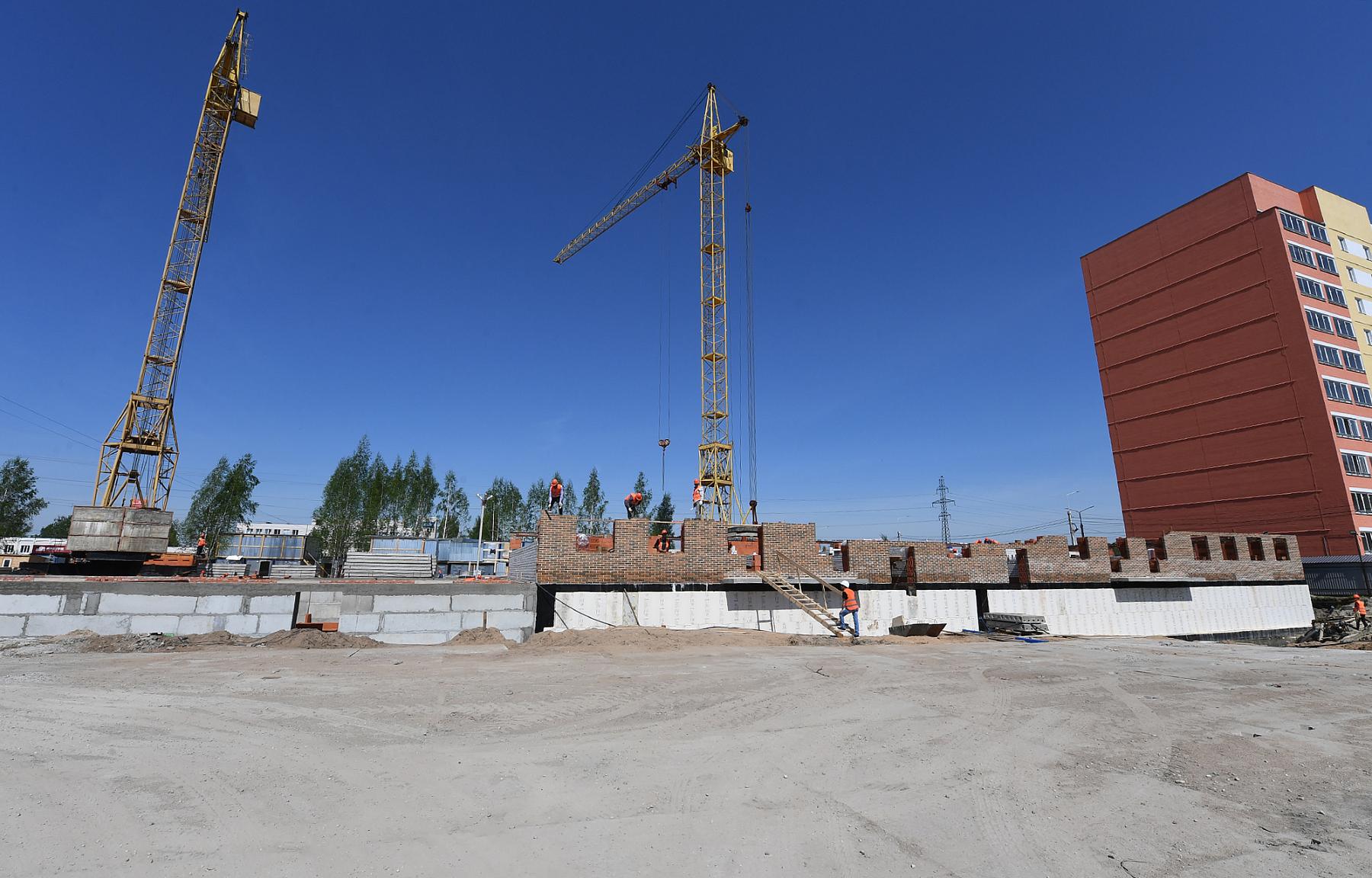 Опубликованы фото строительства домов для переселенцев из Морозовского городка в Твери