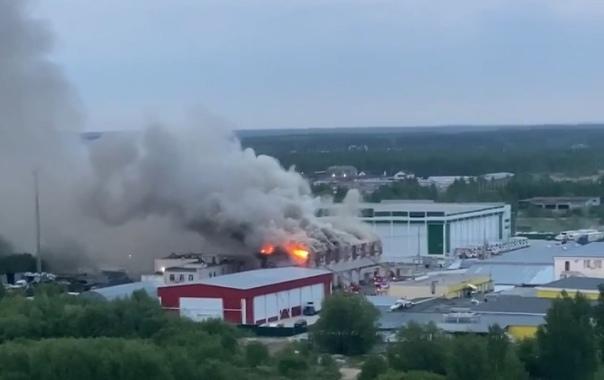 В Твери выясняют причину ночного пожара в производственном здании