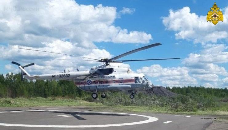 Женщину и мужчину в тяжёлом состоянии доставили в Тверь на вертолётах