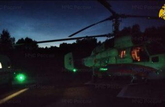 Санитарный вертолёт экстренно доставил ребёнка из Кашина в Тверь