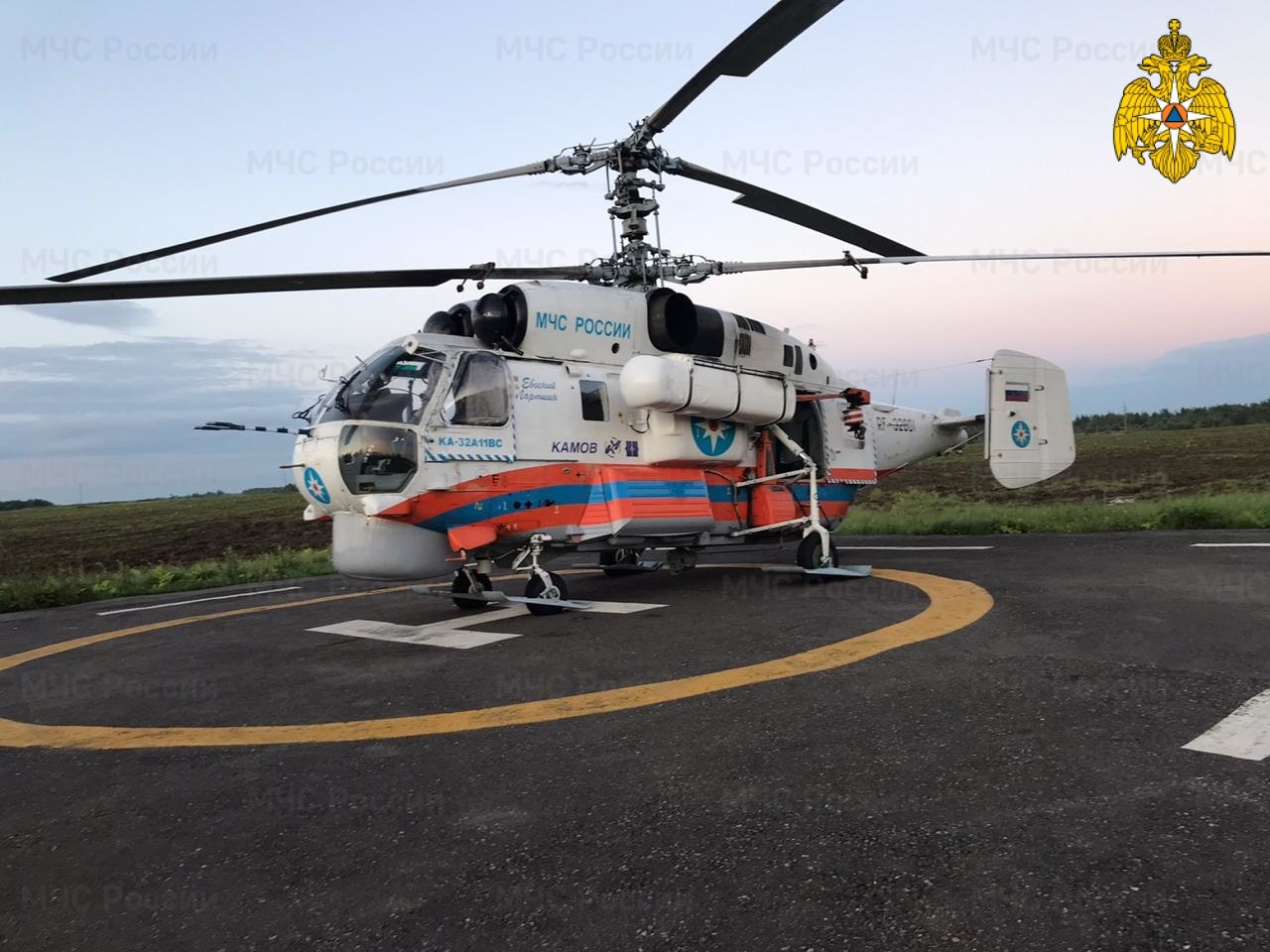 Жителя Тверской области экстренно эвакуировали вертолётом санавиации
