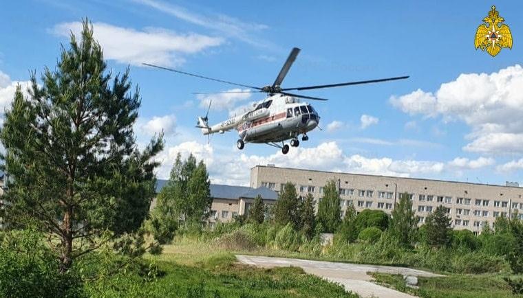 Пациента в тяжёлом состоянии экстренно доставили на вертолёте в Тверь