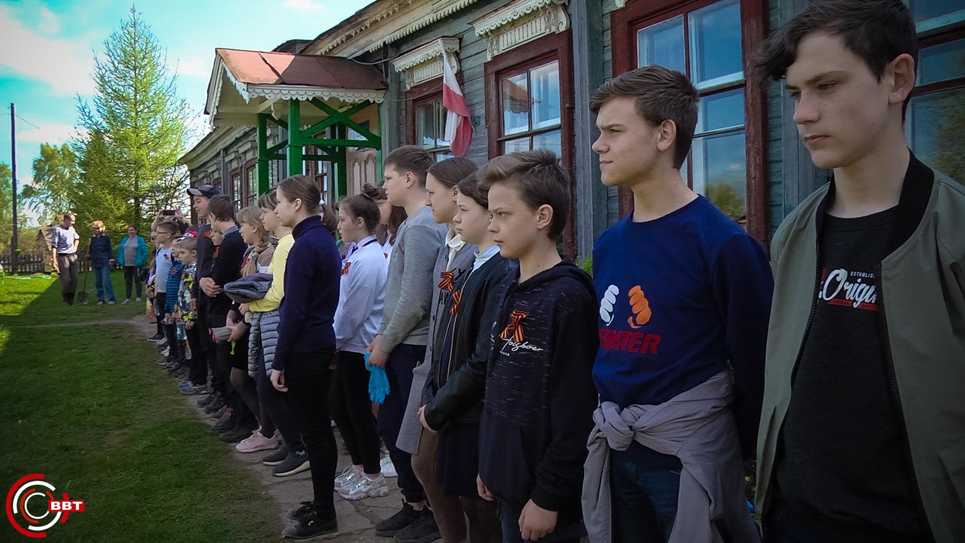 По берегу Шлины в Тверской области высадили сосны