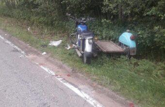 Пьяный мотоциклист разбил голову и порвал ухо в Тверской области