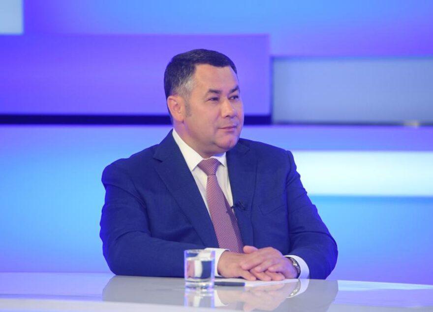 От отчета к эфиру: Игорь Руденя весь день подводил итоги и отвечал на вопросы