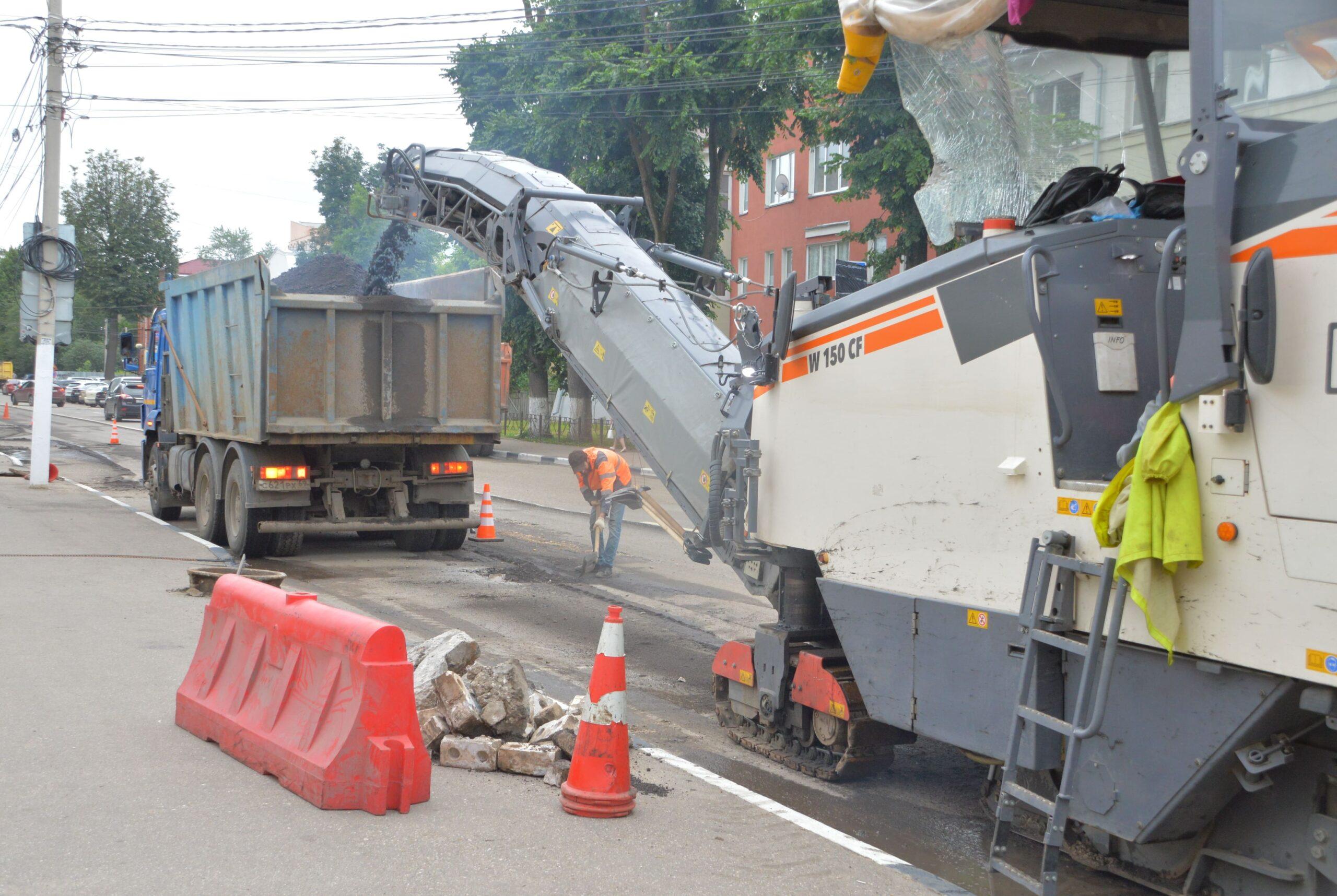 Тверские власти отчитались о ремонте городских дорог