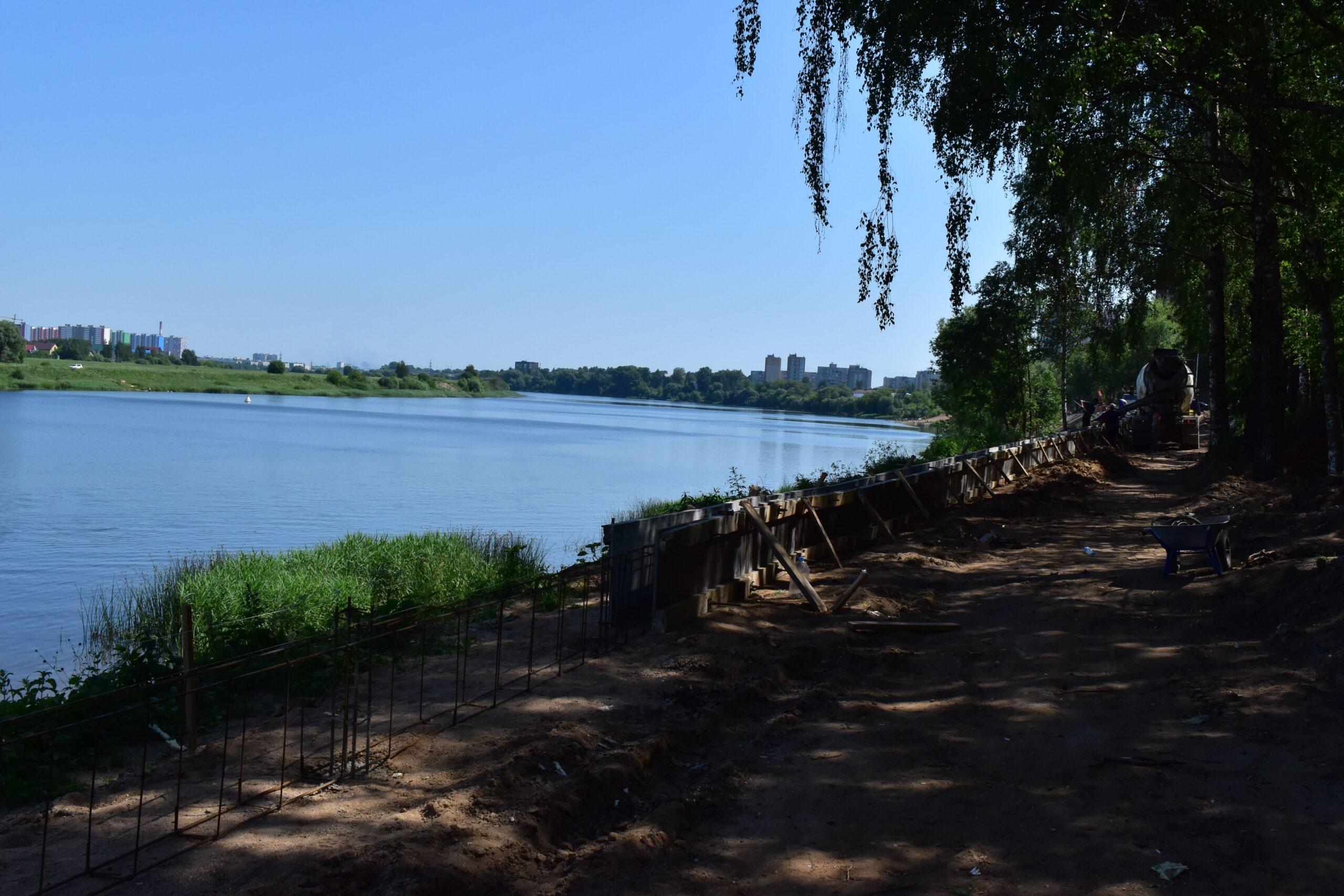 На следующей неделе на Мигаловской набережной в Твери начнут класть брусчатку