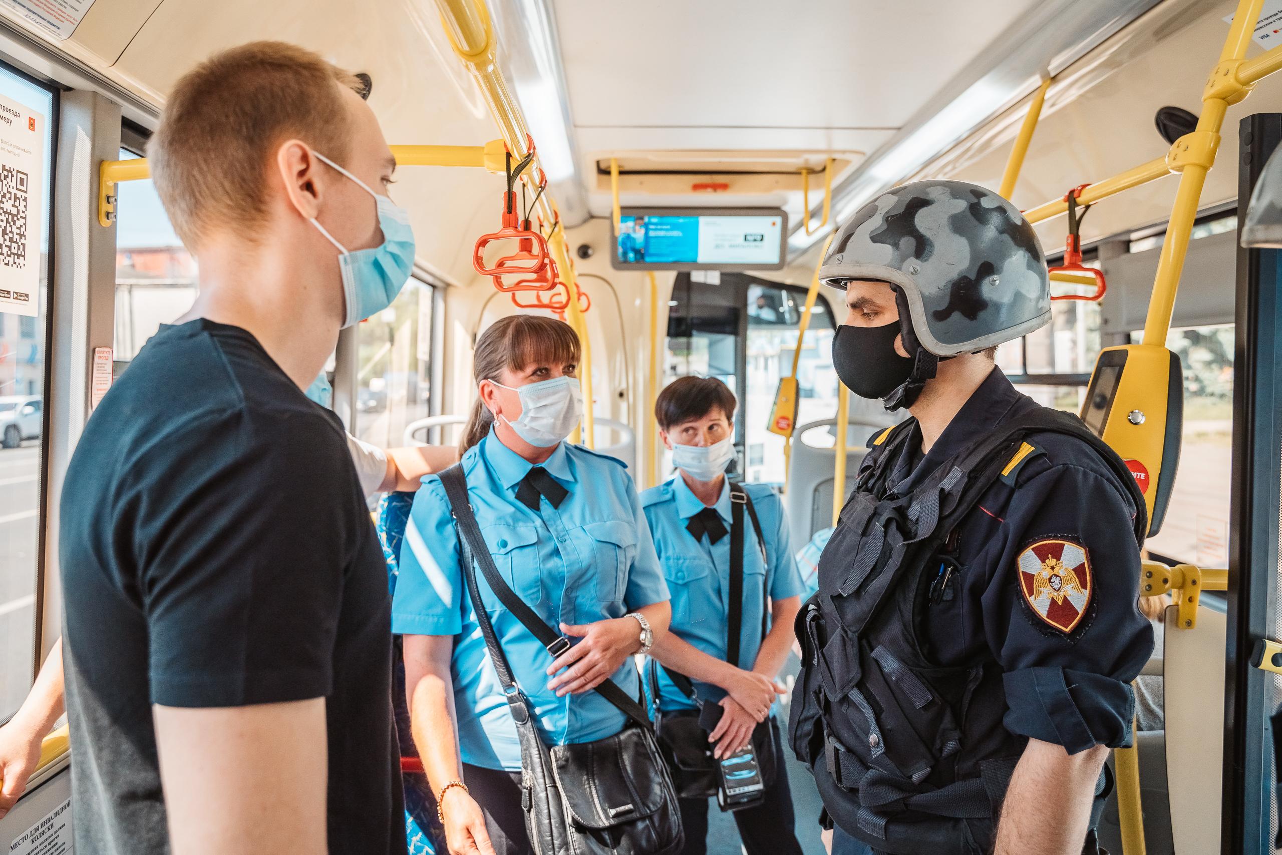 В тверском транспорте агрессивных пассажиров будет задерживать Росгвардия