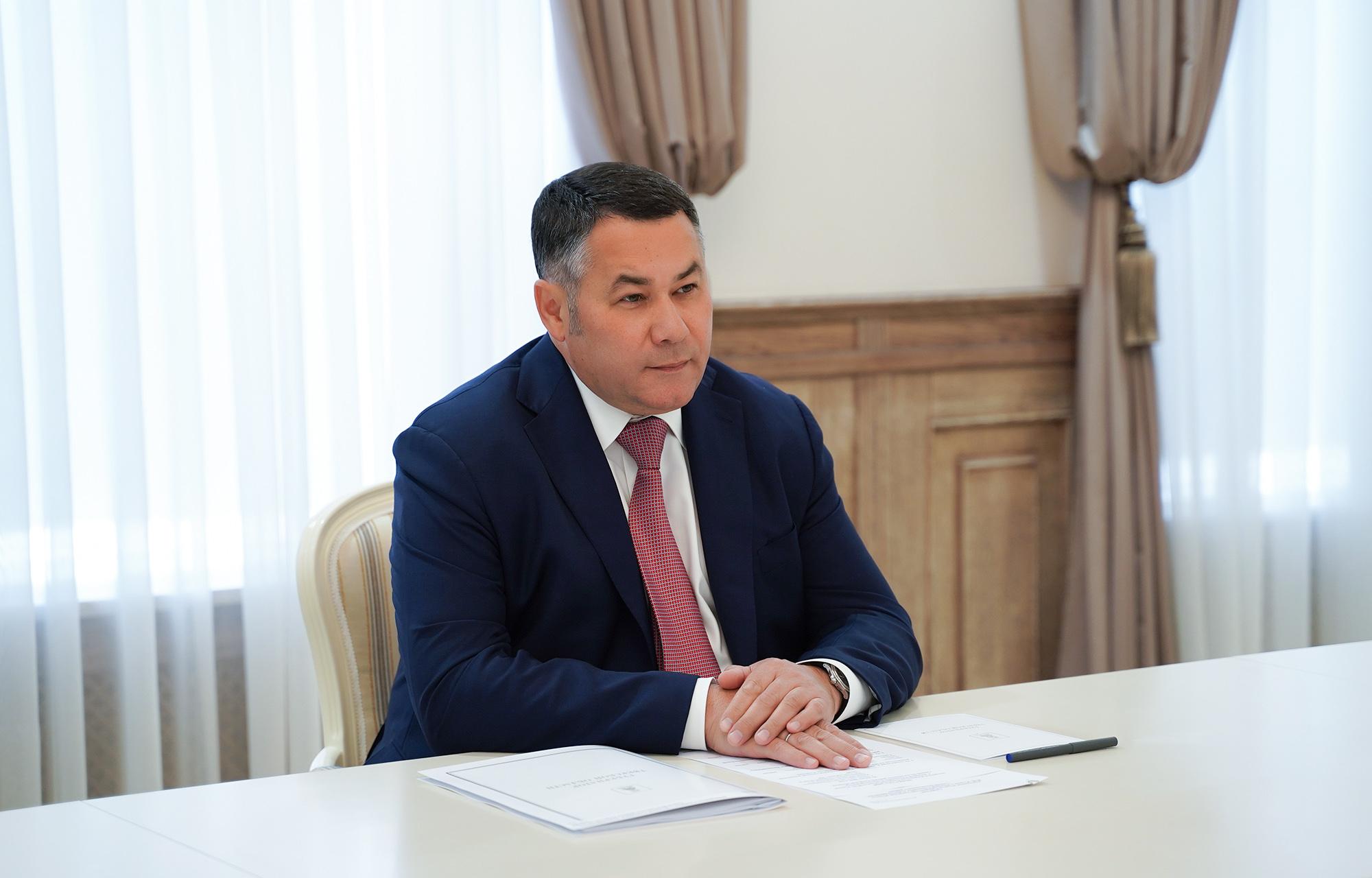 Губернатор Игорь Руденя провёл встречу с главой Бологовского района Геннадием Ломакой