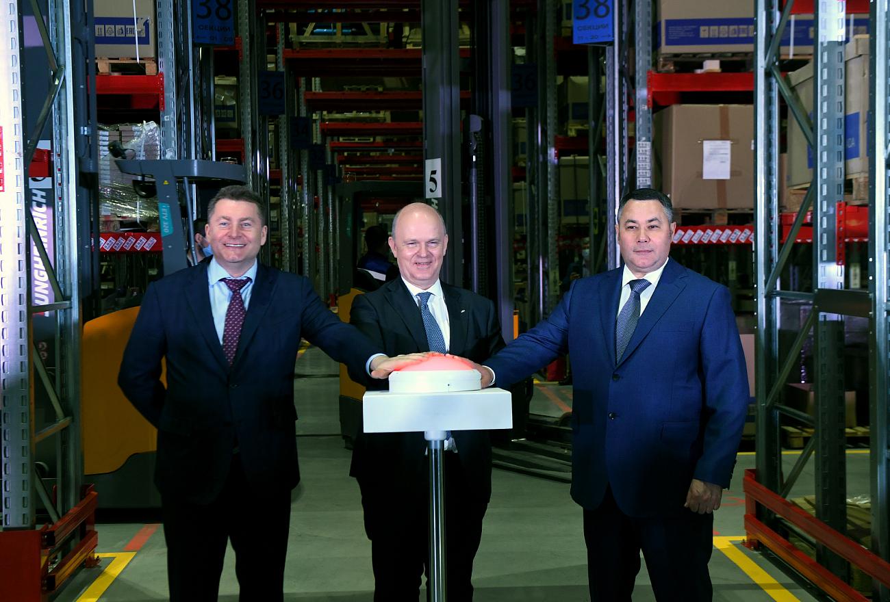 Игорь Руденя принял участие в открытии крупнейшего регионального склада запчастей LADA в Калининском районе