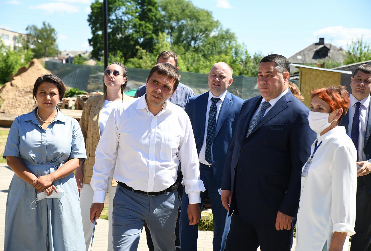 Губернатор Тверской области проверил, как исполнили его поручение в Бежецке