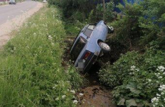 В Тверской области пьяный водитель сделал кульбит в кювете