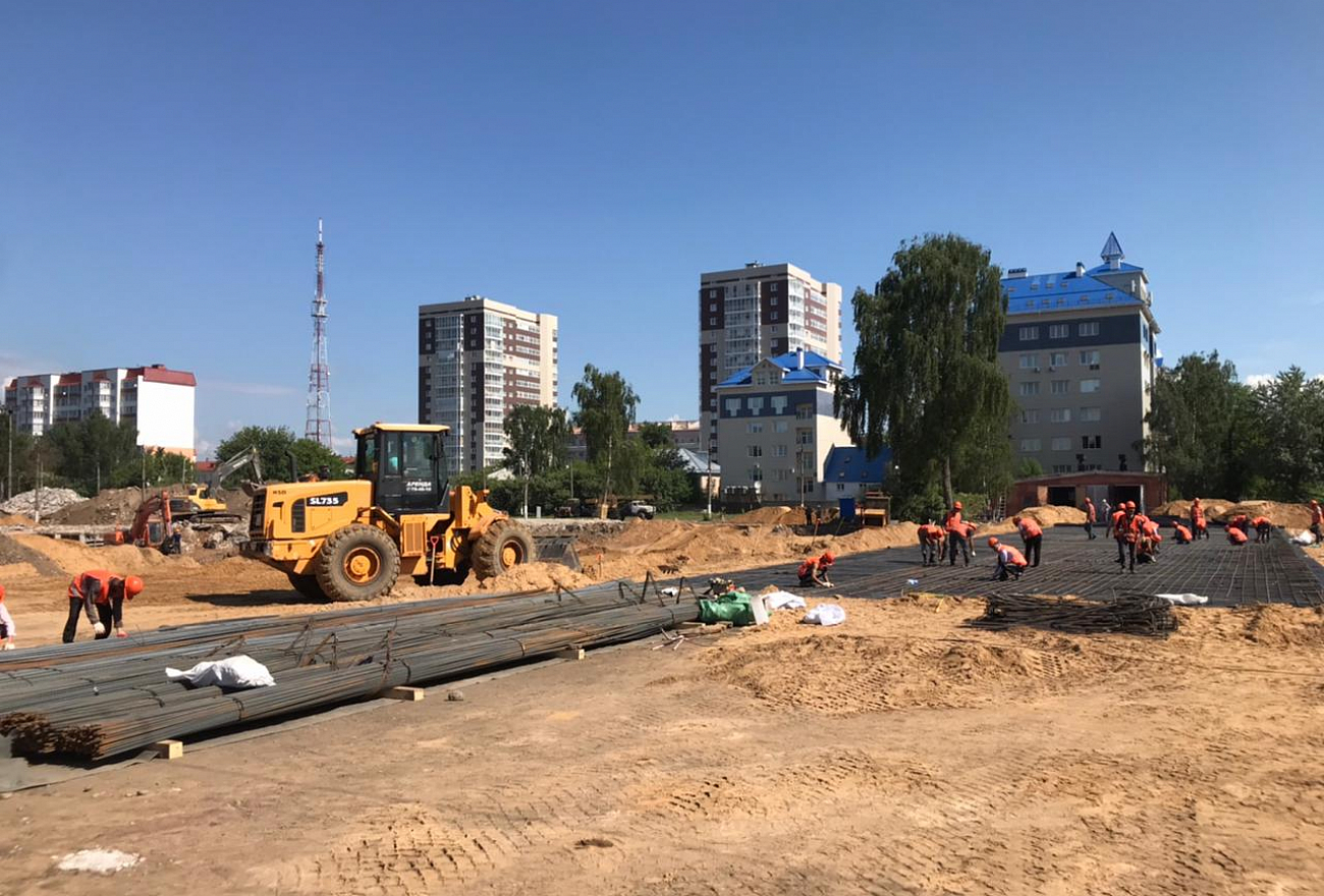 Опубликовано фото начала строительства мультимедийного парка в Твери