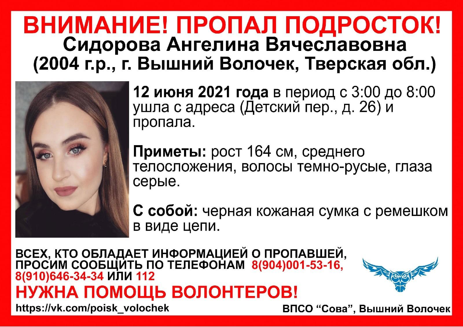 За поиски 16-летней девушки в Тверской области взялись правоохранители