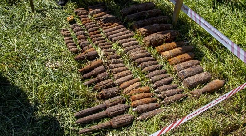 Почти 100 опасных снарядов нашли в Тверской области: видео