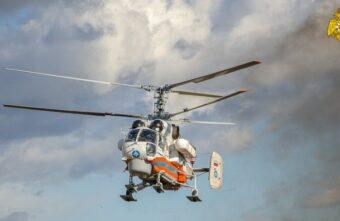 Вертолётом МЧС пациента экстренно доставили из Бежецка в Тверь