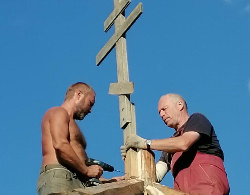 В деревне Борки Тверской области приступили к восстановлению часовни