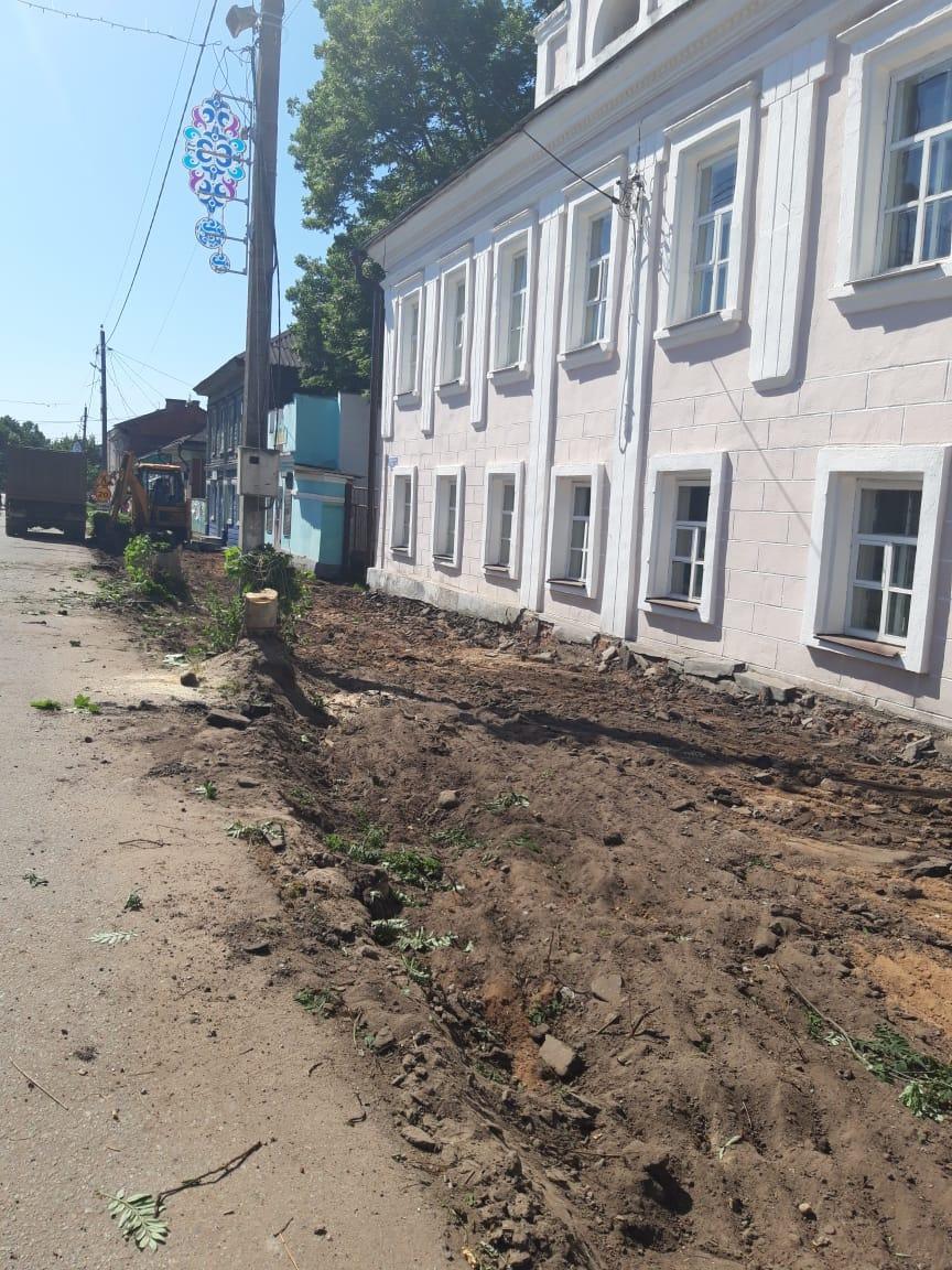Реновация улицы Советской началась в Тверской области