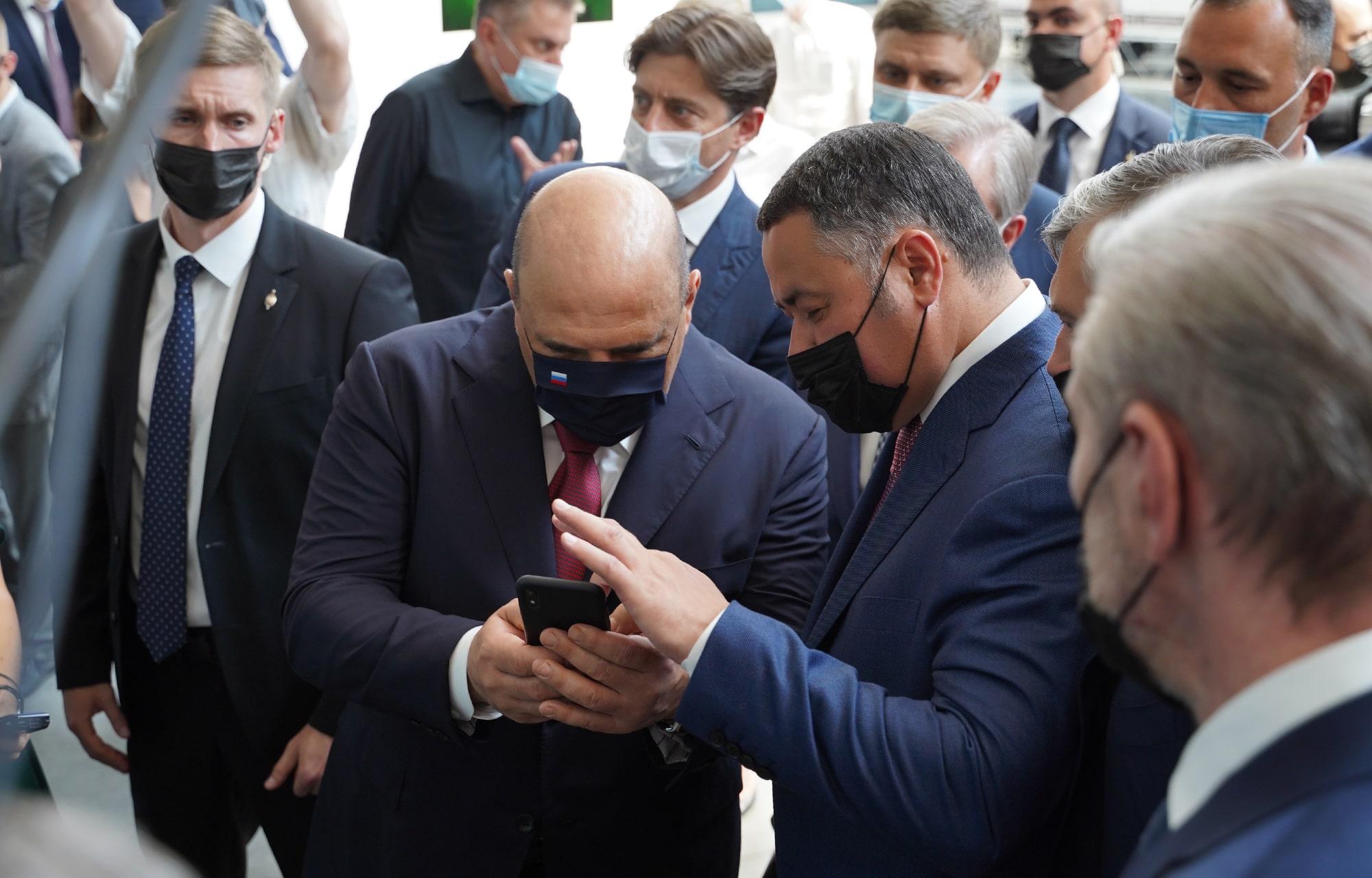 Михаил Мишустин оценил цифровую систему управления городским транспортом в Тверской области