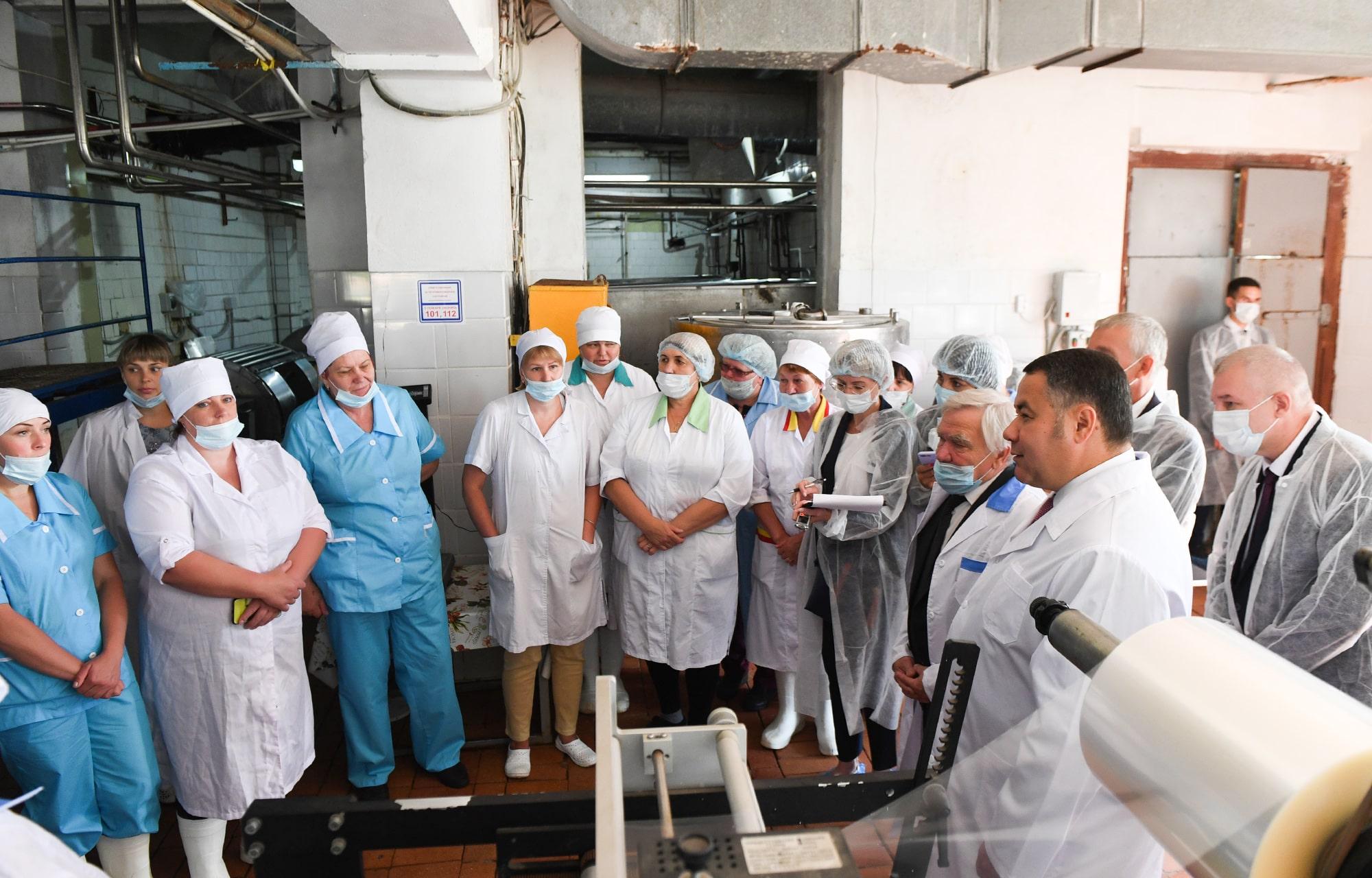 Игорь Руденя пообщался с коллективом Максатихинского маслодельного завода