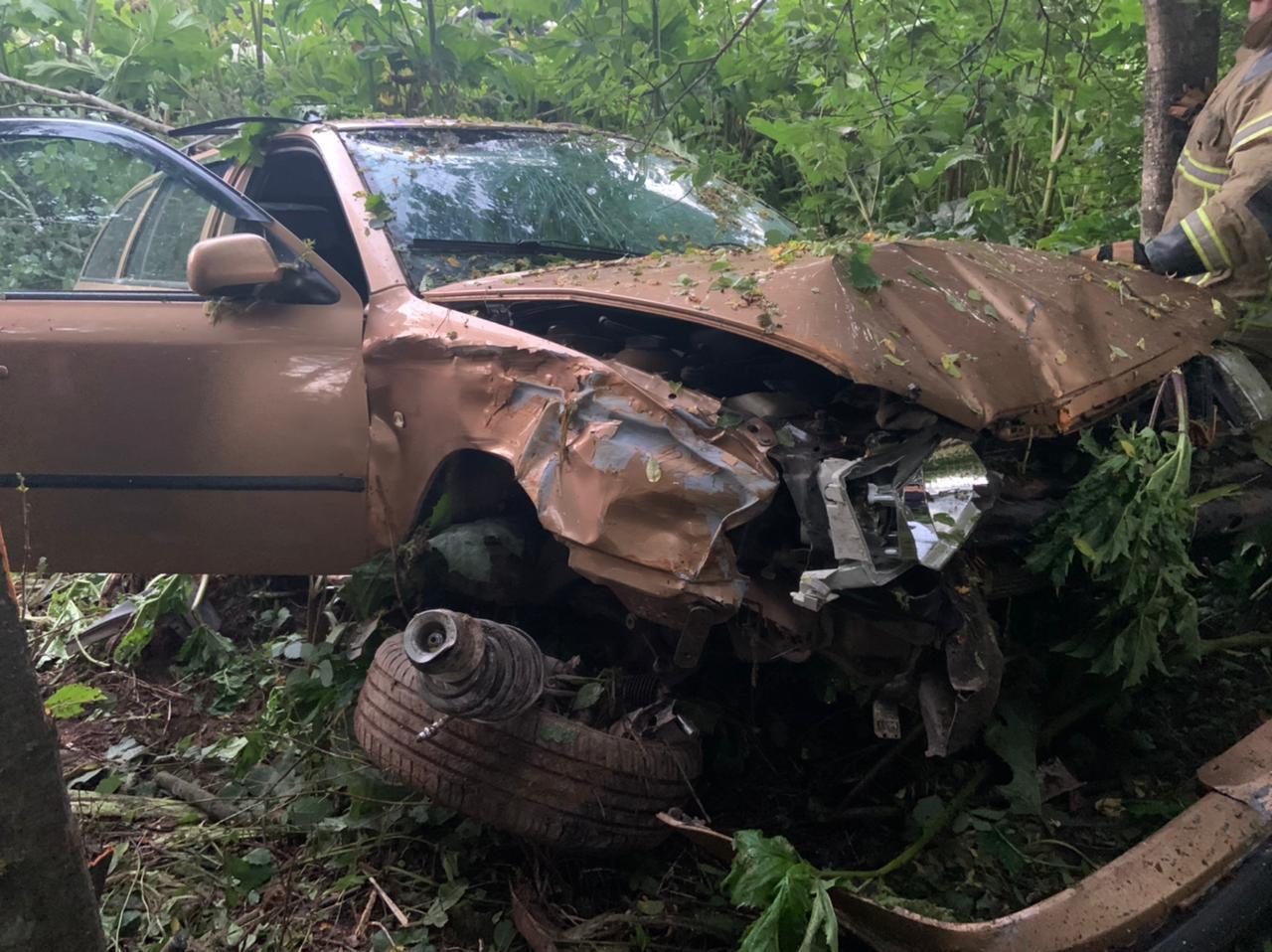 Водитель попал сначала в ДТП на тверской трассе, а потом - в больницу