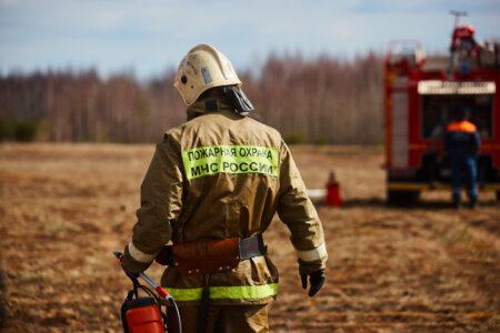 Спасатели тушили тлеющий торф в Тверской области