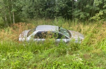 В Тверской области пострадал водитель иномарки, вылетевшей в кювет