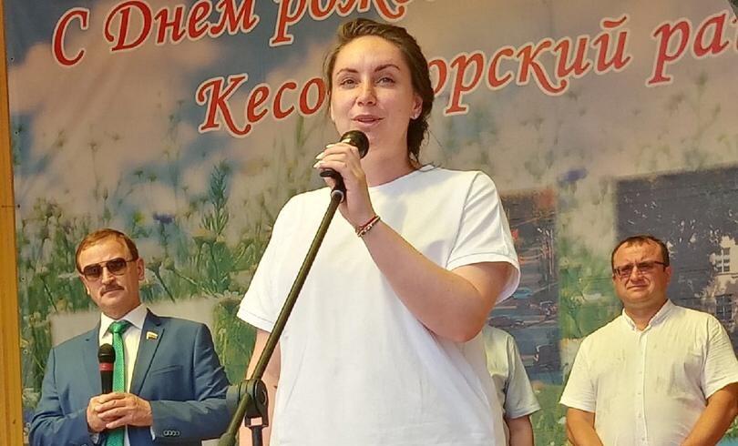 Юлия Саранова приехала на празднование Дня Кесовогорского района